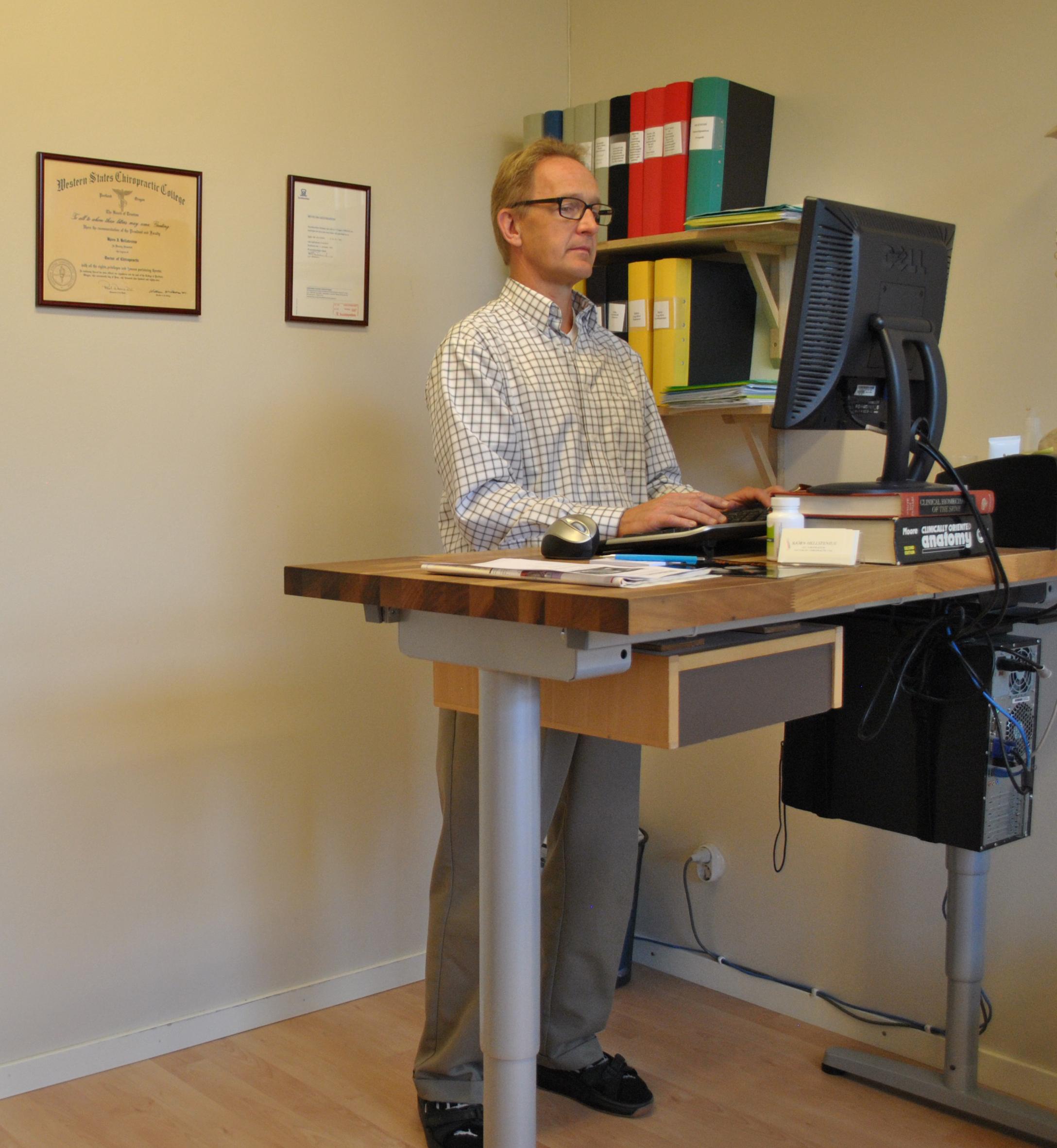 Arbets ergonomi stående