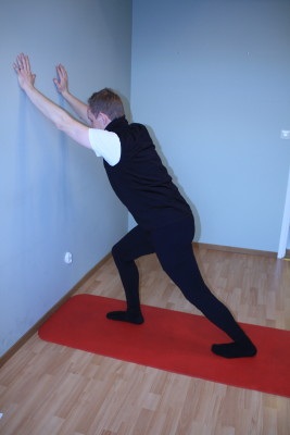 calf stretch with bent knee